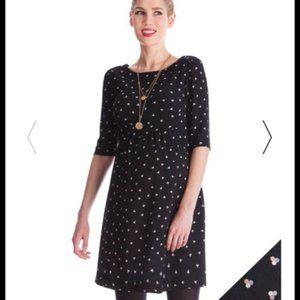 Seraphine Black Dot Maternity Mini Dress Size 4
